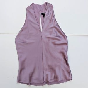 Purple Silk Victoria Secret Sexy Sleeveless Top